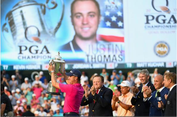 Justin Thomas is your 2017 PGA Champion.