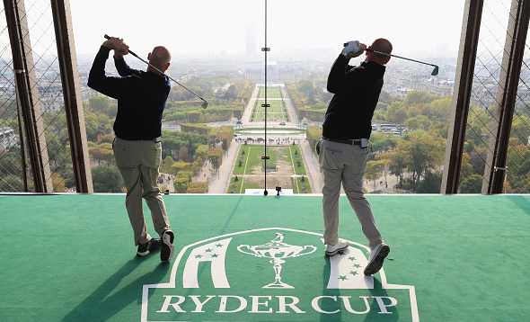 2018 Ryder Cup, captains Jim Furyk and Thomas Bjorn Eiffel Tower