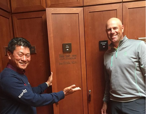 KJ Choi Stewart Cink Locker buddies