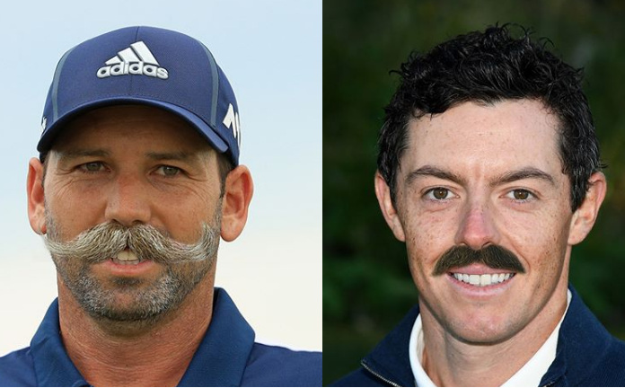SergioGarcia and Rory McIlroy Mustached