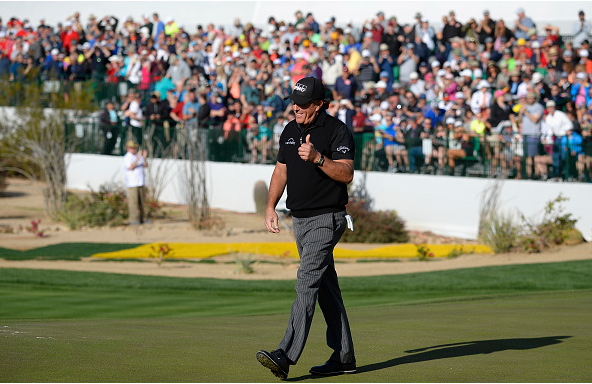 Phil Mickelson, Round 1, Hole 16, 2018 WM Phoenix Open
