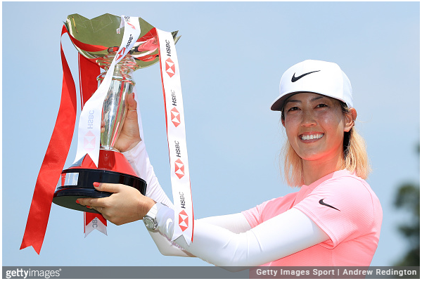 MICHELLE WIE WINS HSBC WOMEN'S WORLD CHAMPIONSHIP