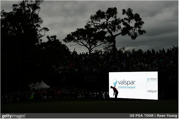 Tiger Woods - 18th Hole - Third Round - Valspar Championship