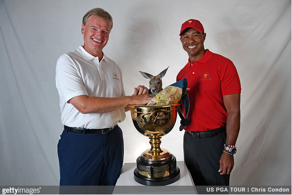 Tiger Woods and Ernie Els Presidents Cup captains 2019 matches in Melbourne,