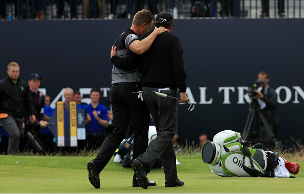 Open Champion Henrik Stenson and Phil Mickelson