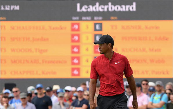 Tiger Woods 2018 British Open, Round 4