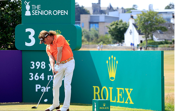 Miguel Angel Jimenez 2018 Senior Open at The Old Course in St Andrews