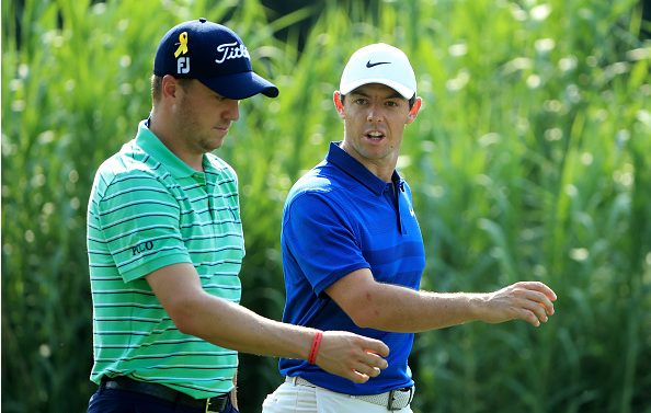 Justin Thomas and Rory McIlroy