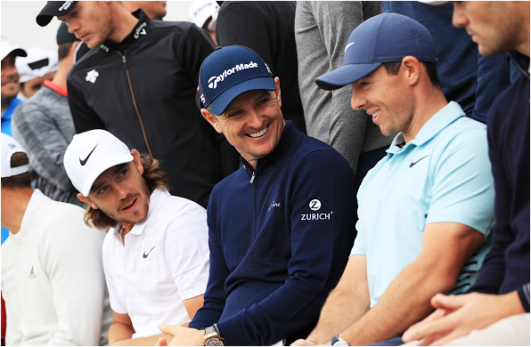 Tommy Fleetwood, Justin Rose, and Rory McIlroy