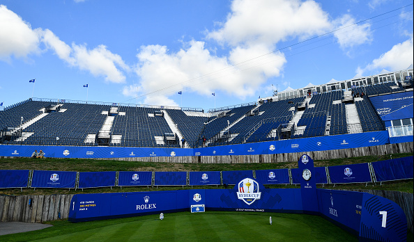 1st tee box Le Golf National Ryder Cup