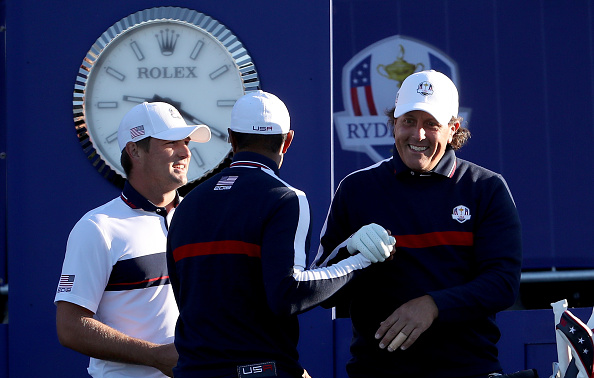 Bryson DeChambeau, Tiger Woods, and Phil Mickelson