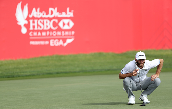 Dustin Johnson Abu Dhabi HSBC