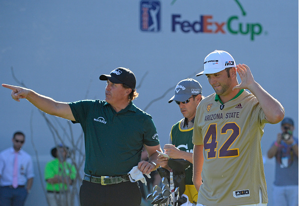 Jon Rahm and Phil Mickelson WM Phoenix Open at TPC Scottsdale