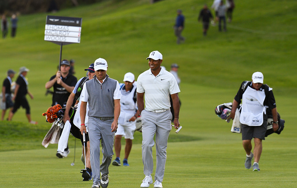 Justin Thomas and Tiger Woods Riviera Genesis Open
