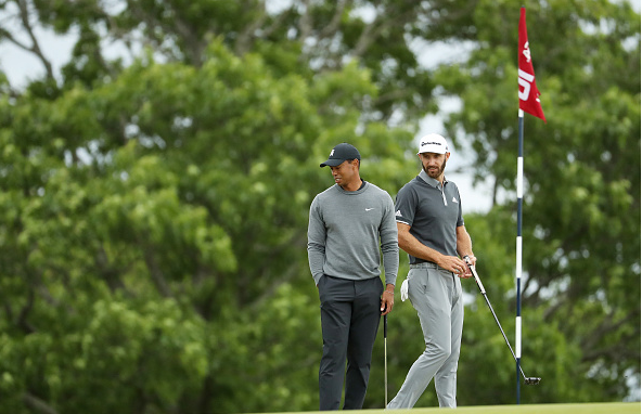 Tiger Woods and Dustin Johnson