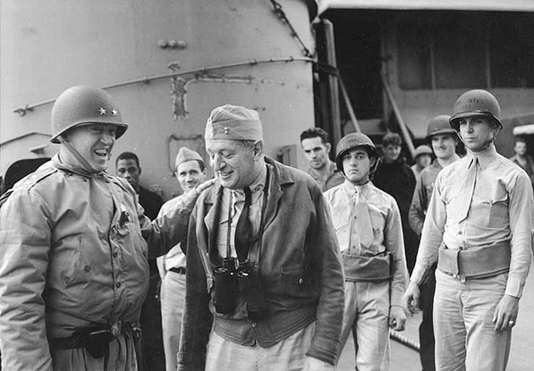 George Patton and Rear Admiral Kent Hewitt