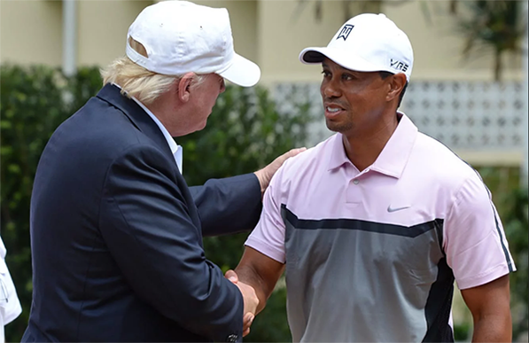 Donald Trump and Tiger Woods