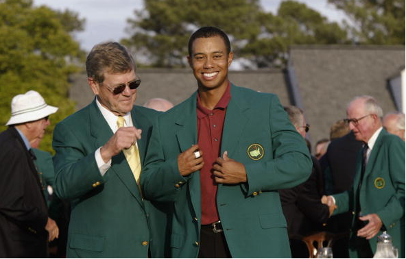 Tiger Woods Billy Payne 2002 Masters