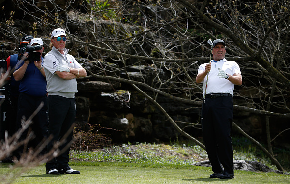 Jose Maria Olazabal and Miguel Angel Jimenez