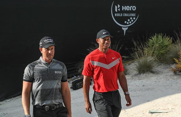 Tiger Woods and Henrik Stenson