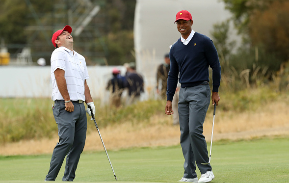 Captain Tiger Woods and Patrick Reed