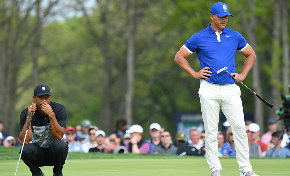 Tiger Woods and Brooks Koepka