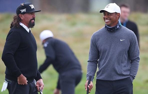 Tiger Woods Pat Perez 2020 PGA Championship TPC Harding Park