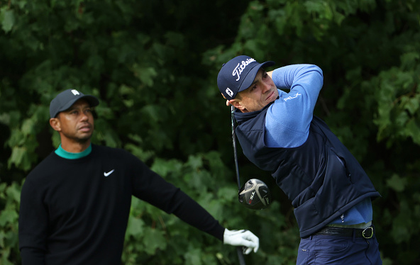 Justin Thomas Tiger Woods 2020 U.S. Open Practice at Winged Foot U.S. Open Winged Foot