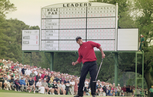 Tiger Woods Wins 1997 Masters