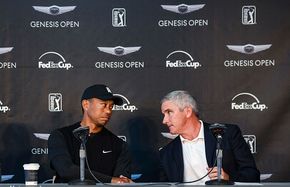Tiger Woods PGA Tour Commissioner Jay Monahan