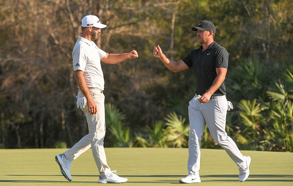 Dustin Johnson and Brooks Koepka