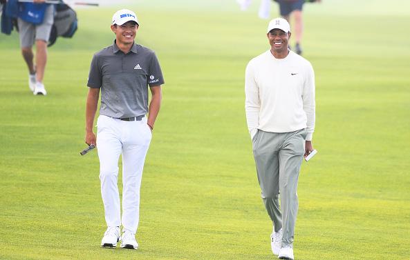 Collin Morikawa and Tiger Woods