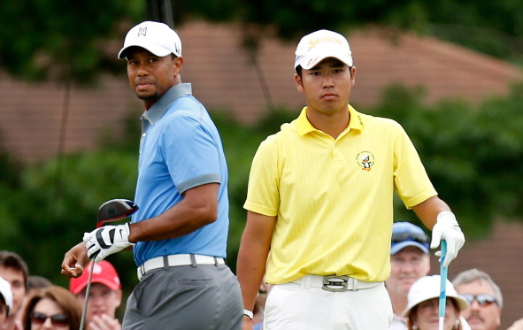 Tiger Woods and Hideki Matsuyama
