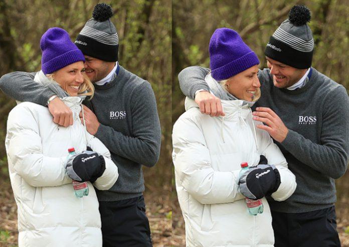 Martin Kaymer with Irene Scholz Austrian Golf Open