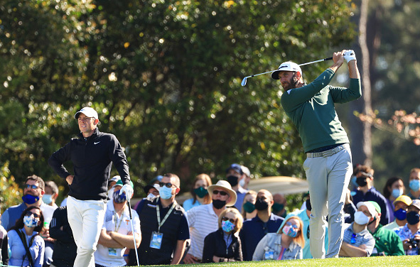 Dustin Johnson and Rory McIlroy Masters Augusta