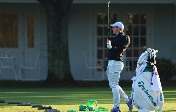Rory McIlroy Practices Ahead of the 2021 Masters Tournament at Augusta National Golf Club