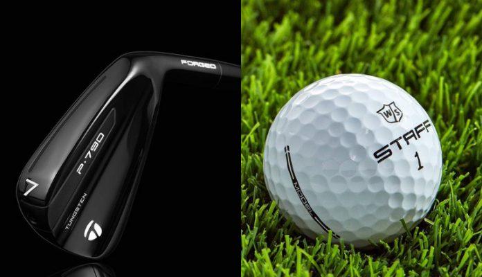 TaylorMade Black P790 irons and Wilson Staff Model golf balls
