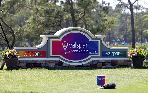 Valspar Championship Signage and Tee Markers Paint Cans Innisbrook Resort Copperhead Course