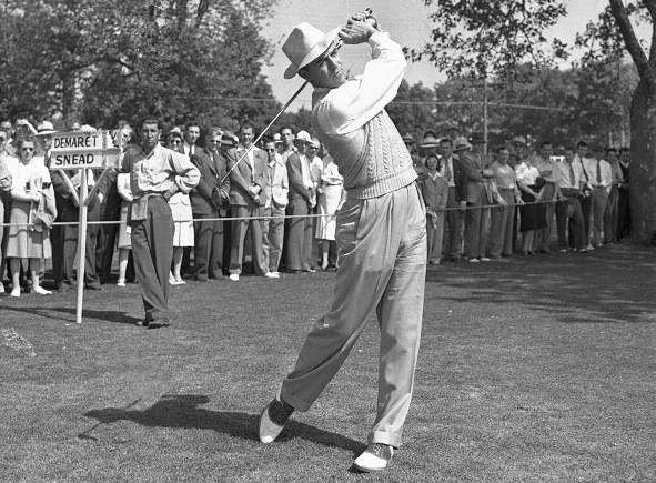 Sammy Snead wins the Wanamaker Trophy at the 1942 PGA Championship