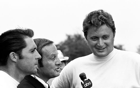 Raymond Floyd wins the Wanamaker Trophy at the 1969 PGA Championship