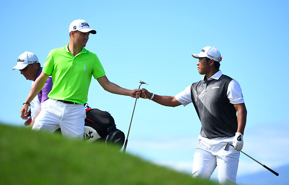 Hideki Matsuyama and Justin Thomas