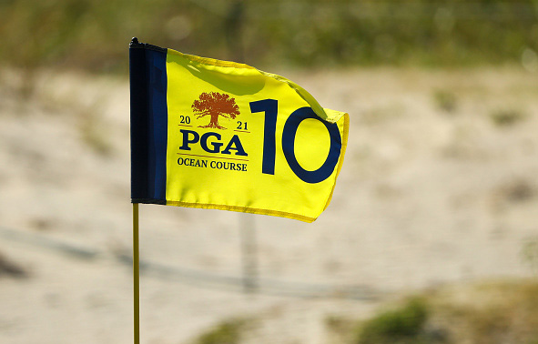 Flag 103rd PGA Championship at Kiawah Island Resort's Ocean Course