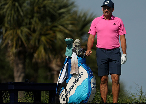 Sergio Garcia with new TaylorMade bag