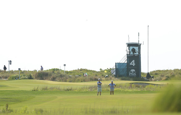TV Tower 4th Hole Day 2 Practice ahead of the 2021 PGA Championship at Kiawah Island Resort's Ocean Course
