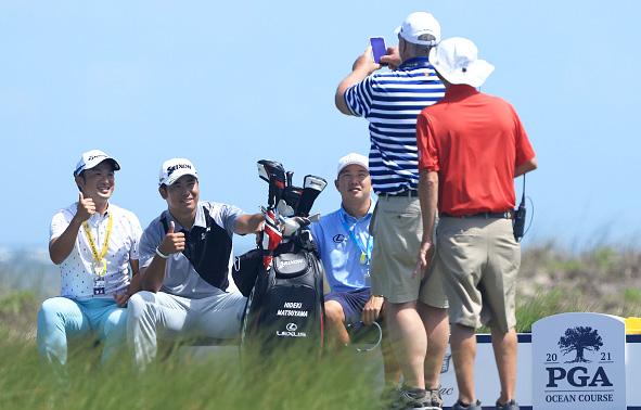 Hideki Matsuyama Day 3 Practice 2021 PGA Championship at Kiawah Island Resort's Ocean Course