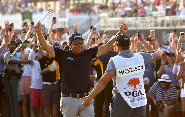50-Year Old Phil Mickelson Makes History, Wins PGA Championship - Pro Golf  Weekly