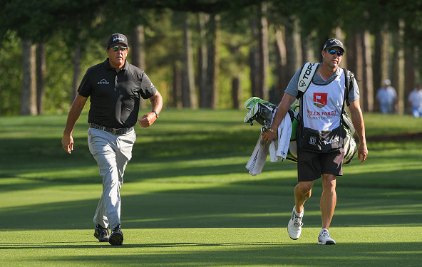 Phil Mickelson Leads Wells Fargo Championship