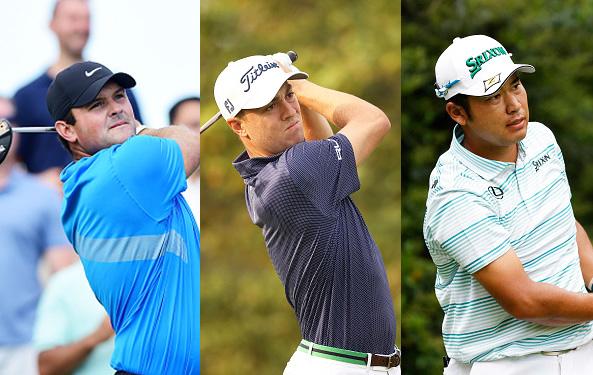 Patrick Reed, Justin Thomas, and Hideki Matsuyama