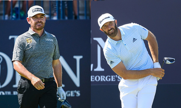 Dustin Johnson and Louis Oosthuizen