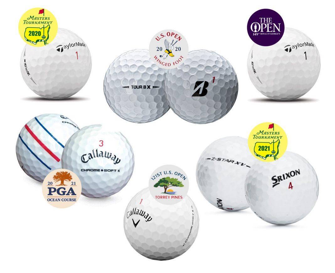 Golf Balls That Won the Six Majors in 2020-21